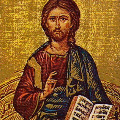 Icona Cristo in trono
