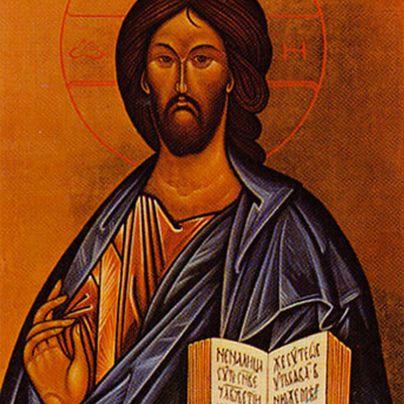 Icona Cristo libro aperto