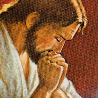 Icona Cristo in preghiera
