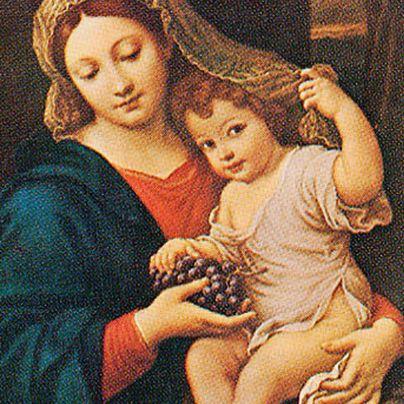 Icona Madonna con l'uva di Mignard
