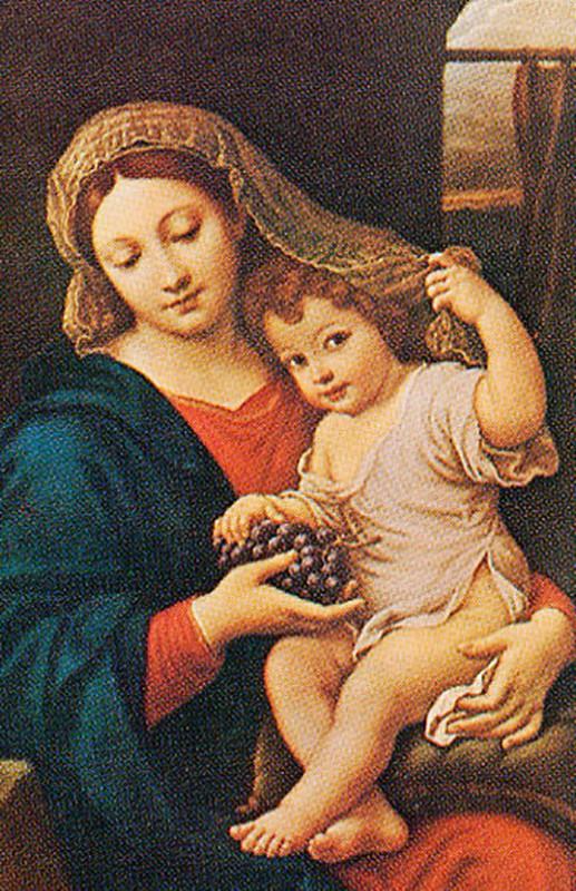 Madonna con l'uva di Pierre Mignard