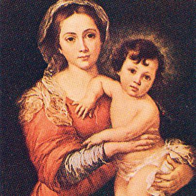 Icona Madonna con Bambino di Murillo
