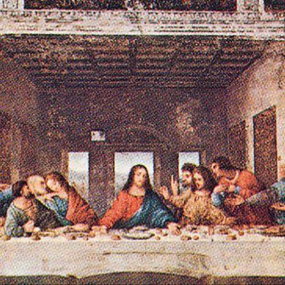 Icona ultima cena di Leonardo da Vinci
